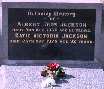 Jackson Albert Katie headstone VT