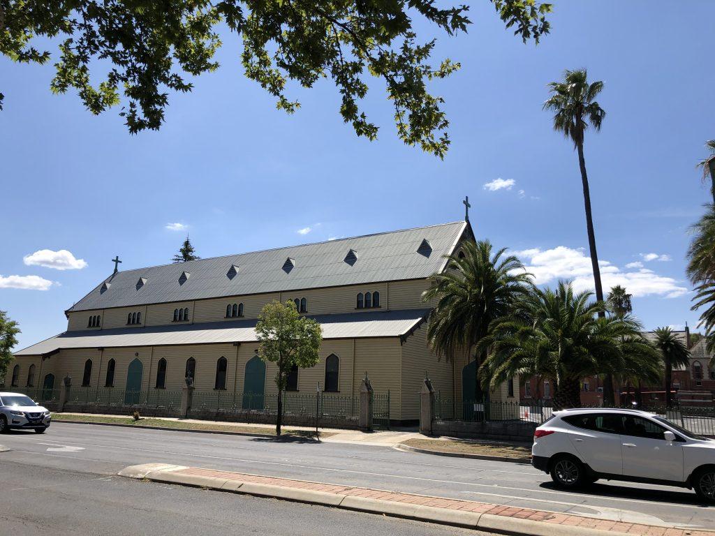 Text Box: St Kilian's Roman Catholic church, Bendigo, Victoria, opened Dec 1857